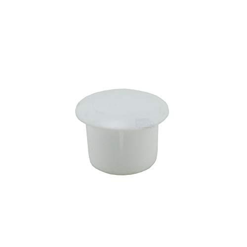 10 Abdeckkappen für Bohrlöcher 12 mm IROX weiß Kunststoff Kopf 15 mm Kappe