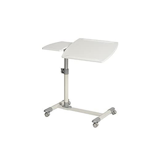 BIAOYU Mesa de escritorio de altura ajustable para el hogar, oficina, estudio, mesa de escritura para sala de estar, dormitorio, estación de trabajo (color: blanco)