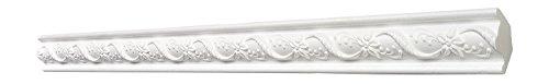 DECOSA Zierprofil G22 DENISE, weiß, 10 Leisten à 2 m Länge, 31 x 31 mm