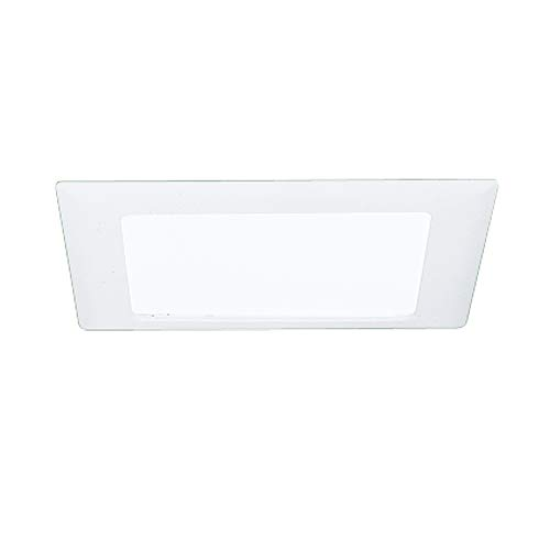 HALO 10P Recessed Ceiling Light Square Trim with Glass Albalite Lens, 9-3/8', White