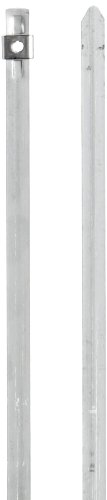 BAND-IT AS2119 304 Stainless Steel Cable Tie, 1/4 Width, 10 Length, 2 Maximum Diameter, Bag of 100 by Band-It