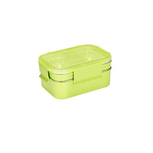 ZYNS Caja de almuerzo Bento Box Acero Inoxidable Doble Alimentos Caja Escuela Caja De Almuerzo Empresa Cantina Comida Rápida Almuerzo Caja