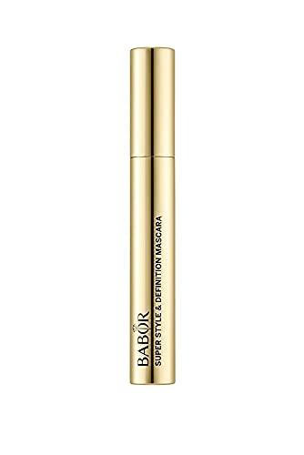 BABOR MAKE UP Super Style & Definition Mascara black, Volumen Wimperntusche mit Kamm, für perfekt getrennte Wimpern, mit Silikonbürste, 8 ml