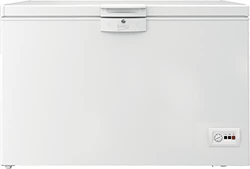 Beko Congelador HSA40530N – Congelador tipo pozo – Volumen 360 litros, 40dBA, iluminación interior, autonomía sin corriente 36H, sistema de refrigeración estática, clase F