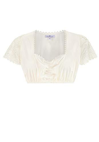 Stockerpoint Damen Dirndlbluse B-3033 Kleid für besondere Anlässe, Creme, 40