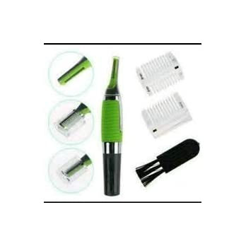 Midik Men's Micro Touch All in One Personal Ear Nose Neck Eyebrow Hair Trimmer Remover (Green)