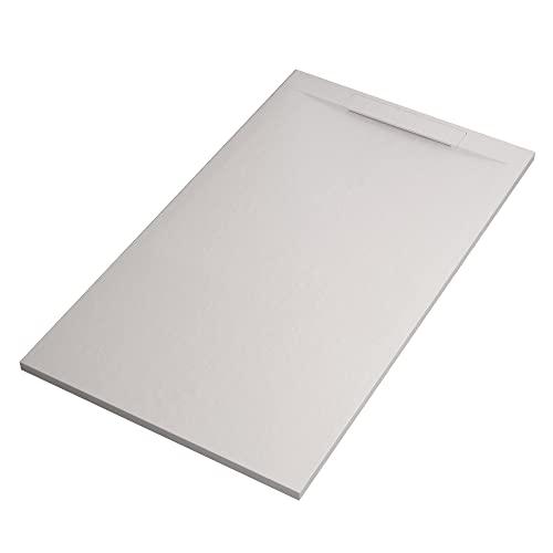 OLIMPO DOCCE Piatto Doccia in marmoresina Bianco Effetto Pietra Cemento Star Vincent - 70x140