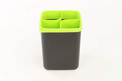TUPPERWARE Ordnungstopf Griffbereit schwarz-grün Aufbewahrung Sammelbehälter 32384