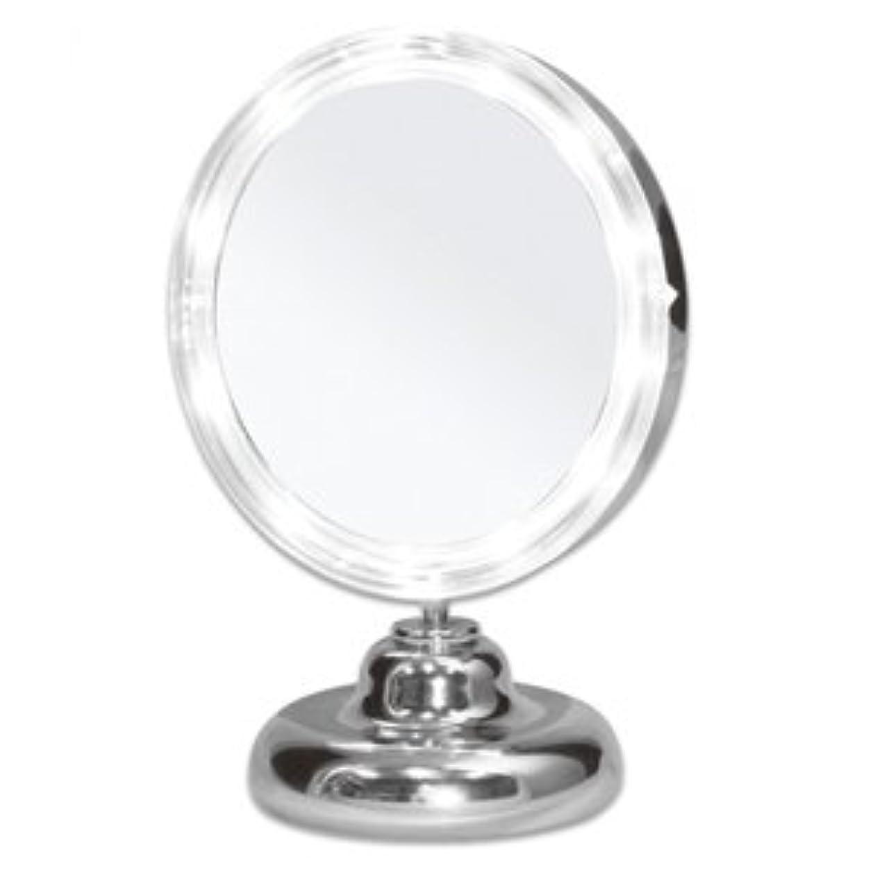 雪だるま牛肉ジャズシミ?しわ?たるみ?毛穴が驚くほど良く見える!拡大鏡 5倍拡大+LEDライト付き 真実の鏡DX ミニS型 しっかり見えるから、メイクアップやお手入れがしやすい!どこでも使える電池式 角度調節可 真実の鏡 DX ミニS型
