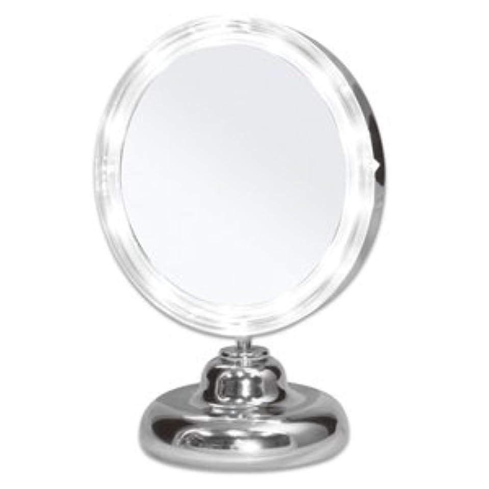 ボウルアパル沼地シミ?しわ?たるみ?毛穴が驚くほど良く見える!拡大鏡 5倍拡大+LEDライト付き 真実の鏡DX ミニS型 しっかり見えるから、メイクアップやお手入れがしやすい!どこでも使える電池式 角度調節可 真実の鏡 DX ミニS型