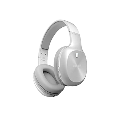 Auriculares Auriculares Bluetooth Auriculares sobre Oreja Proteína Suave Proteínas Earmuffs Activo Ruido Cancelación 55H Tiempo de Juego con Modo Cada Juego (Color : White)