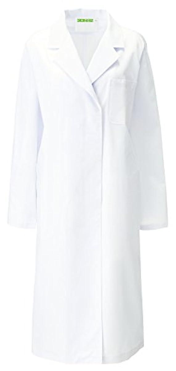 ブラケットエージェント中断アプロン KAZEN レディス診察衣S型 長袖  L  120-20(ホワイト)