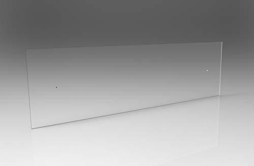 Battisedia fasce paracolpi in plexiglass TRASPARENTE proteggi muro - FISSAGGIO CON VITI (cm 50x20)