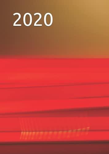 2020: Agenda 2020 vista semanal vertical | Din A4 | Enero a Diciembre 2020 | Agenda semanal y mensual | diseño hojas de naranjo