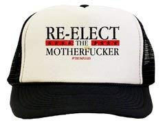2 Pcs Re-Elect The Motherfucker Trp 2020 Trucker Hat Black/White
