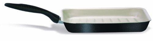 Silex Italia SIL 1730 Linea Ecoceram Poêle Anti-adhésive en Aluminium avec Renfort en céramique, Dimensions 28 x 28 cm, Manche en bakélite, Noir