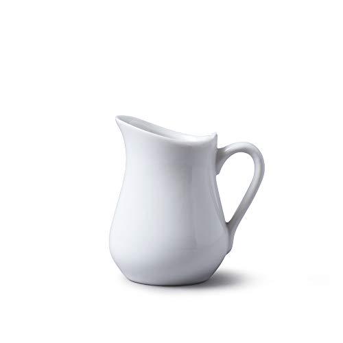 Wm Bartleet & Sons - Jarras de porcelana, Blanco, 100 ml