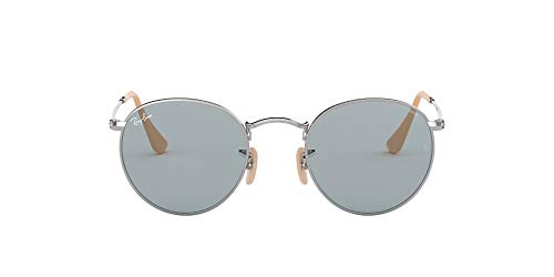 Ray-Ban Round Washed Gafas De Sol, Gris(Blue Evolve Self-Tinting), 50 para Hombre