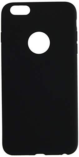 Shot Case Carcasa de Silicona para iPhone 6/6S Plus, Color Mate, Ultra Fina, protección de Gel Flexible, Color Negro