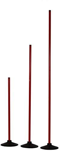 Boje Sport Slalomstange mit Vollgummi-Standfuß, Stange 160 cm - Farbe: rot