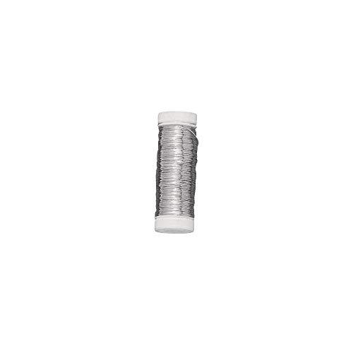 Rayher 2402700 Silberdraht mit Kupferkern, 0,40 mm ø, Spule 40 m