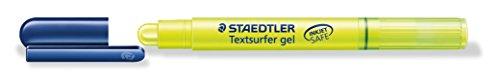 Staedtler Textsurfer Gel Trockentextmarker für Inkjet-Ausdrücke mit Drehmechanik Strichbreite 3 mm 10 Stück gelb
