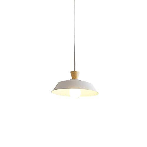 Raelf - Lámpara de Techo de Hierro Forjado, Minimalista, Moderna, de una Sola Cabeza, LED, para Restaurante, Loft, Color Negro, para Cocina, cafetería, candelabro, Casquillo E27