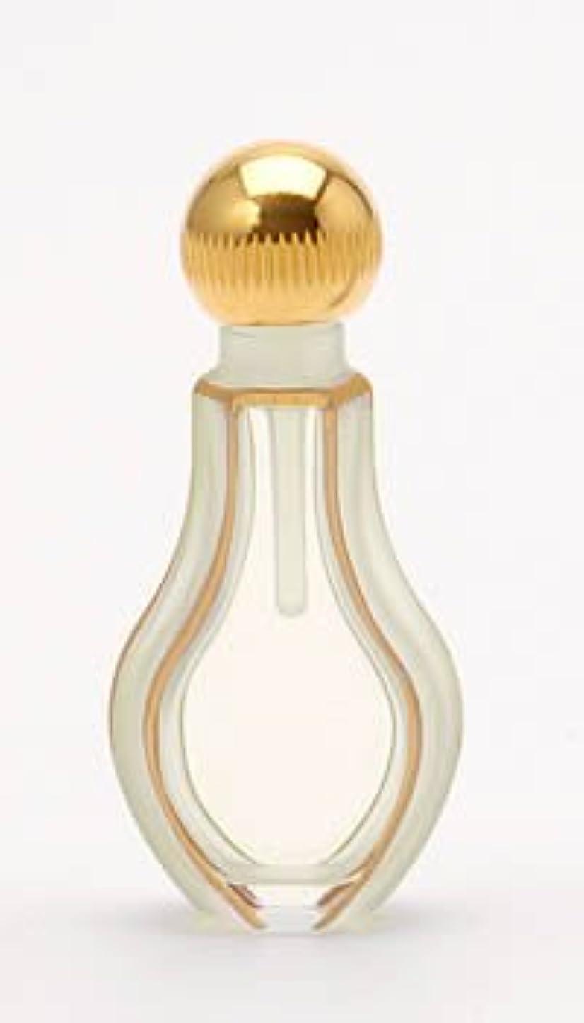 対処する透ける曲パースパフュームボトル ストリング カット 手描きゴールド