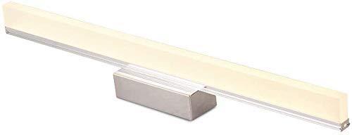 miwaimao Espejo de vanidad, luz frontal, iluminación de baño, lámpara de pared, impermeable, antiniebla, espejo de maquillaje, para fregadero, luz blanca, 30 W/150 cm