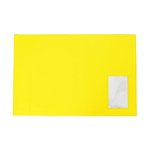 DIプランニング 車検証入れ 中袋左横付 100枚入 検査証入れ 車検証ケース 名刺入り付 カー用品 カラー: 黄色 (10色から選択できます)