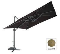 Zangenberg 64842_515 Ampel-/Sonnenschirm Monte Carlo, grau, 350x250 cm rechteckig, Gestell Aluminium, Bespannung Polyester, 38 kg
