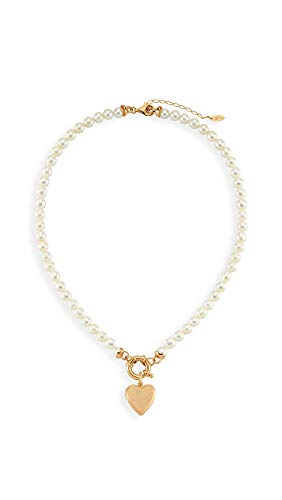 Maison Irem Women's Freja Pearl Necklace, Pearl, Off White, Gold, One Size