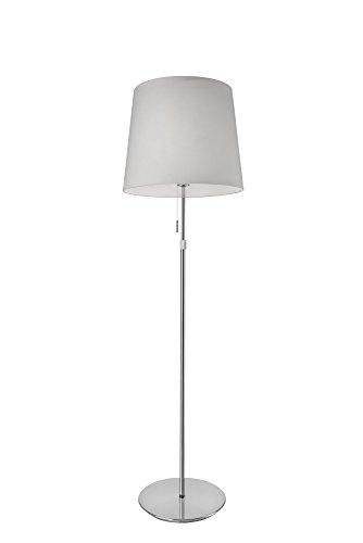 Villeroy&Boch Amsterdam staande lamp, metaal, 60 W, zilver/wit, H 120-155 cm, Ø 40 cm