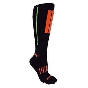 MOXY Socks Knee-High Performance Deadlift APeX Socks, Black/Red/Grey