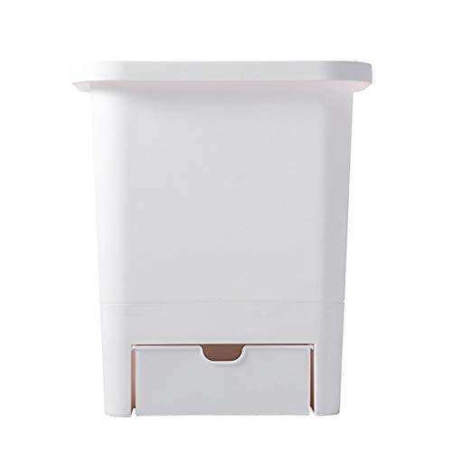 Cocina Colgante Bote de Basura Encimera del hogar Tipo de suspensión de Puerta de gabinete (Frente Blanco)