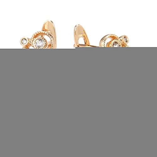 Nuevos Pendientes Colgantes de Flores Huecas 585 Oro Rosa Cuadrado Mujeres Pendientes de circonita Natural joyería de Moda Nupcial de Lujo