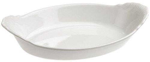 Revol 615271 Plat à Four Ovale Porcelaine Blanc 16,3 x 9,3 x 3,5 cm