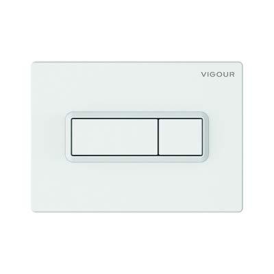 Vigour VIS Betätigungsplatte TEES Drückerplatte für WC Vorwandelement Conel (weiss)