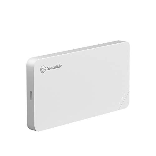 GlocalMe U3 White Mobile Hotspot, Worldwide High Speed WiFi Hotspot with US 8GB & Global 1GB Data, No SIM Card Roaming Charges International Pocket WiFi Hotspot MIFI Device