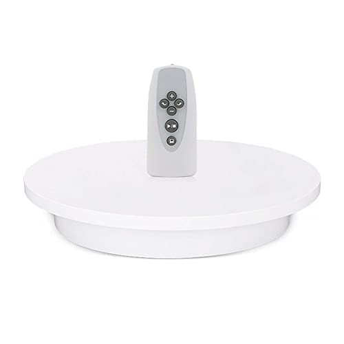 JRPT Remote Plataforma Rotatoria para Fotografía,360° Automático Base Giratoria Eléctrica/Blanco / 60CM...