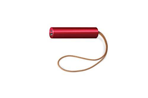 LEXON - Batteria esterna sottile da 3000 mAh, 2 pezzi, colore: Rosso