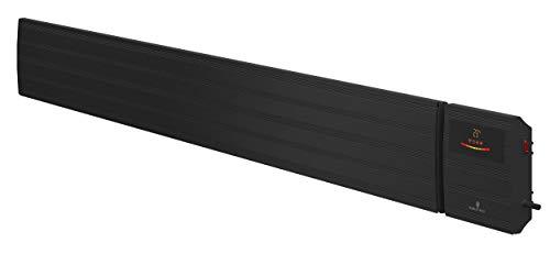 Noble Heat Panther Heizstrahler – 3200W 230V Dunkelstrahler Timer LED-Display Thermostat Fernbedienung – innen außen - schwarz