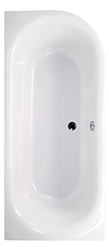 'aquaSu® | Acryl - Badewanne ovO II | 180 x 80 cm | Weiß | Rechts | Wanne | Badewanne | Bad | Badezimmer