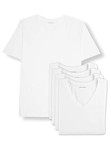 Amazon Essentials Men's Big & Tall 5-Pack V-Neck Undershirts Shirt, -White, 2XL