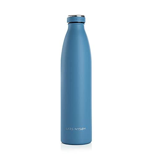LARS NYSØM Trinkflasche Edelstahl 1000ml | BPA-freie Isolierflasche 1...