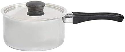 Raj Stainless Steel Sauce Pan with Lid, Silver-GSSSP1