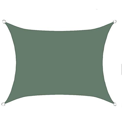 Toldo Rectangular de 3 x 4 m, toldo de protección Solar, Impermeable para Nadar en el jardín al Aire Libre (Color : Green, Size : 3 * 4m)