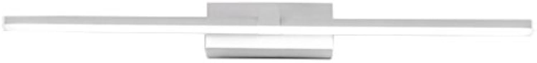 JF Frontspiegelleuchten LED Einfache Moderne Aluminiumspiegel Scheinwerfer Bad Badezimmer Make-up Lange Spiegel Licht wasserdichte Anti-Nebel-Wandleuchte (gre   40CM-8W)