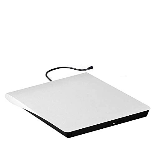Grabadora Dvd Externa DVD DVD DVD externa, USB 3.0 CD / DVD +/- RW DRIVE / DVD Player para computadora portátil CD ROM Burner Compatible con computadora portátil PC Windows Linux OS Apple Mac Blanco L