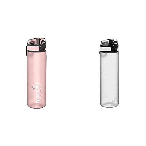 Ion8 Botella Agua, Sin Fugas, Sin Bpa, 500Ml, Rosa + Botella Agua, Sin Fugas, Sin Bpa, 500Ml, Hielo